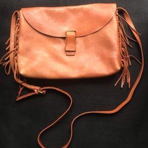 Madewell leather fringe crossbody